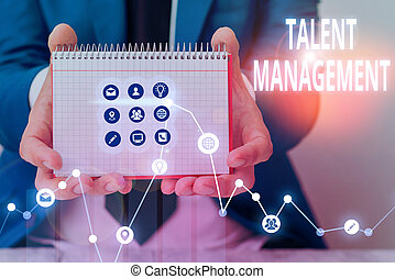 Writing note showing Talent Management. Business photo ...
