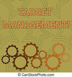 Writing note showing Target Analysisagement. Business photo ...