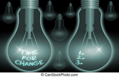 Writing note showing Time For Change. Business photo showcasing take action new beginnings life changing and improvement.