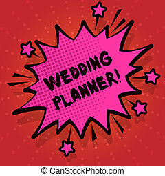 Writing note showing Wedding Planner. Business photo ...