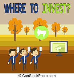 Writing note showing Where To Invest Question. Business ...