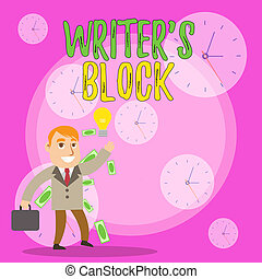Writing note showing Writer S Block. Business photo ...