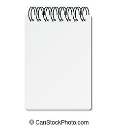 Vector illustration of a writing pad with spiral binder