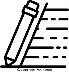 Writing pen icon, outline style