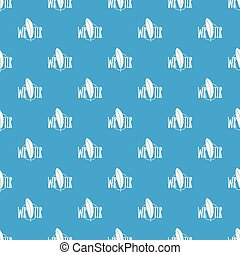Writing pen pattern vector seamless blue