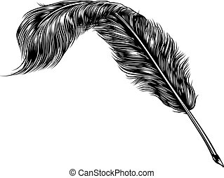 Writing Quill Feather Ink Pen