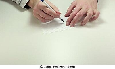 Written note Go
