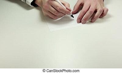 Written note On
