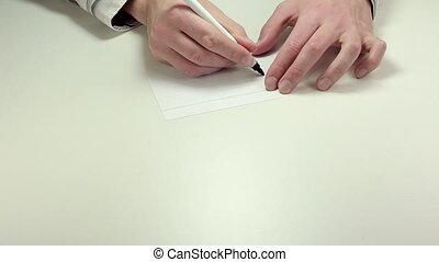 Written note Right