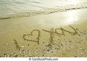 Written on the beach