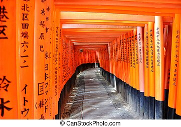 Written path - Fushimi Inari Taisha, Kyoto, Japan