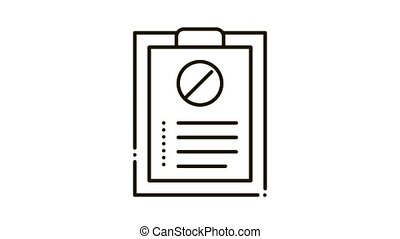 written protest requests Icon Animation. black written protest requests animated icon on white background