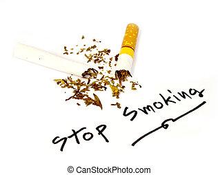 Written stop smoking