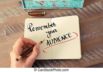 Written text Remember Your Audience