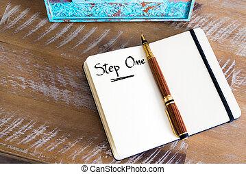 Written text Step One
