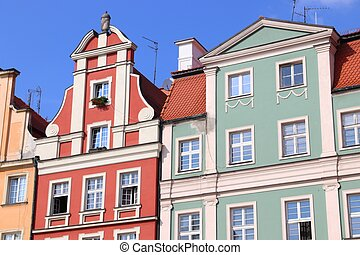 Wroclaw city landmarks - Rynek square in the Old Town. Wroclaw, Poland.