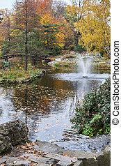 wroclaw, flora, fontein tuin