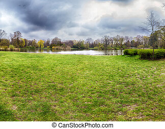 WROCLAW, POLAND - APRIL 13, 2019: South Park in Wroclaw was...