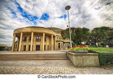 WROCLAW, POLAND - AUGUST 04, 2017: Centennial Hall in Wroclaw. The Hall's inscription on UNESCO World Heritage List in 2006 emphasized the rank of this facility. Designed by Max Berg.