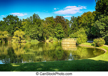 WROCLAW, POLAND - AUGUST 07, 2017: South Park in Wroclaw was...