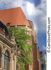 Wroclaw, Poland partial summer view of Church. St. Archangel Michael