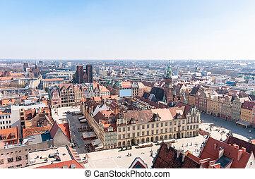 wroclaw, quadrat, markt