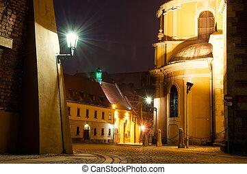 Wroclaw - Tumski island at night, Wroclaw