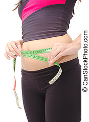 Wrong Measure - Girl measuring waist wrong