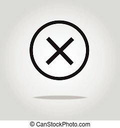 wrong vector icon