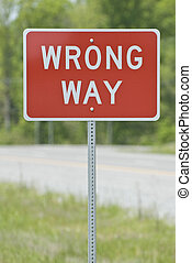 Wrong Way Sign Vertical