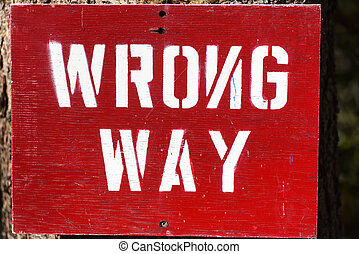 Wrong Way sign with the N facing the wrong way.