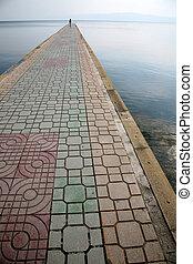 wrong way - stone dock on ohrid lake