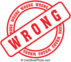 wrong word stamp8 - wrong in vector format