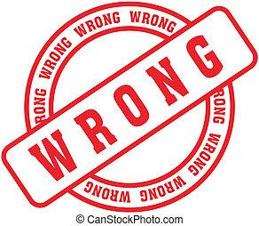 wrong in vector format