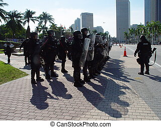 Wrongful deployment - Police forces preparing to deploy to...