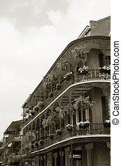 French Quarter - wrought iron balconies in New Orleans...