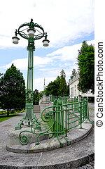 wrought iron bridge railing and colum