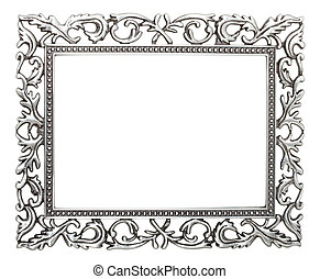wrought iron frame isolated with clipping path