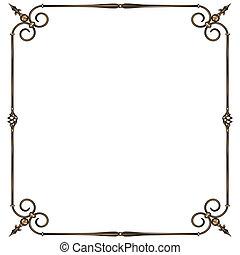 wrought-iron frame - vector illustratoin wrought -iron...