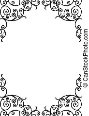 wrought iron frame - wrought iron elements - vector...