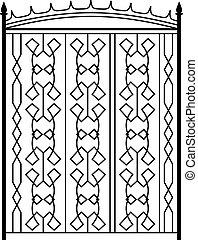 Wrought Iron Gate, Door, Fence, Window, Grill, Railing Design