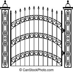 Wrought Iron Gate Pillar