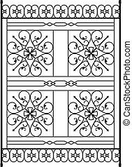 Wrought Iron Grill, Gate, Door, Fence, Window, Railing Design
