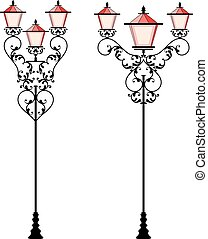 Wrought Iron Lamp Post