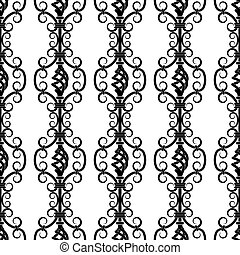 wrought iron pattern - Vector illustration of forged...