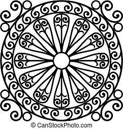 wrought iron rosette - vector illustration