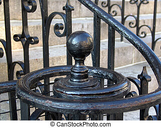 Wrought Iron Spiral Outdoor Bannister