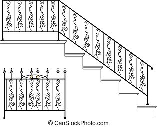 Wrought Iron Stair Railing Design
