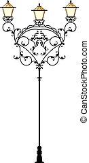 Wrought Iron Street Lamp Post