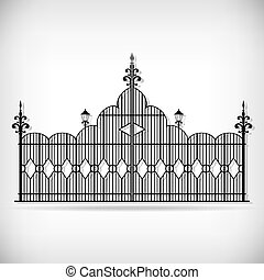 Wrought iron vector set